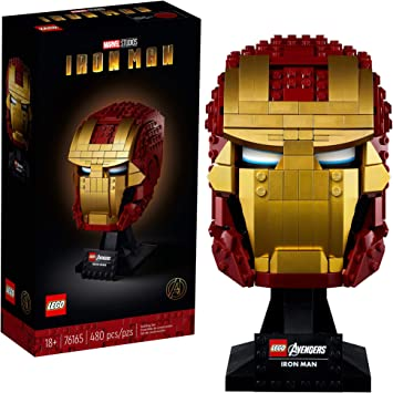 Oferta amazon: LEGO Marvel Avengers CLAS Casco de Iron Man, Set de Construcción y Exposición, Modelo de Regalo para Coleccionista para Adultos, Multicolor (76165)