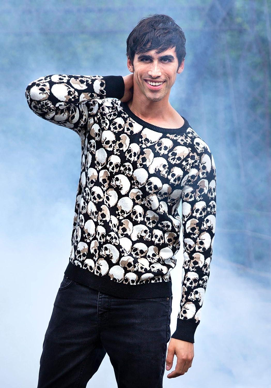 Fun Costumes Adult Skulls Galore Halloween Sweater