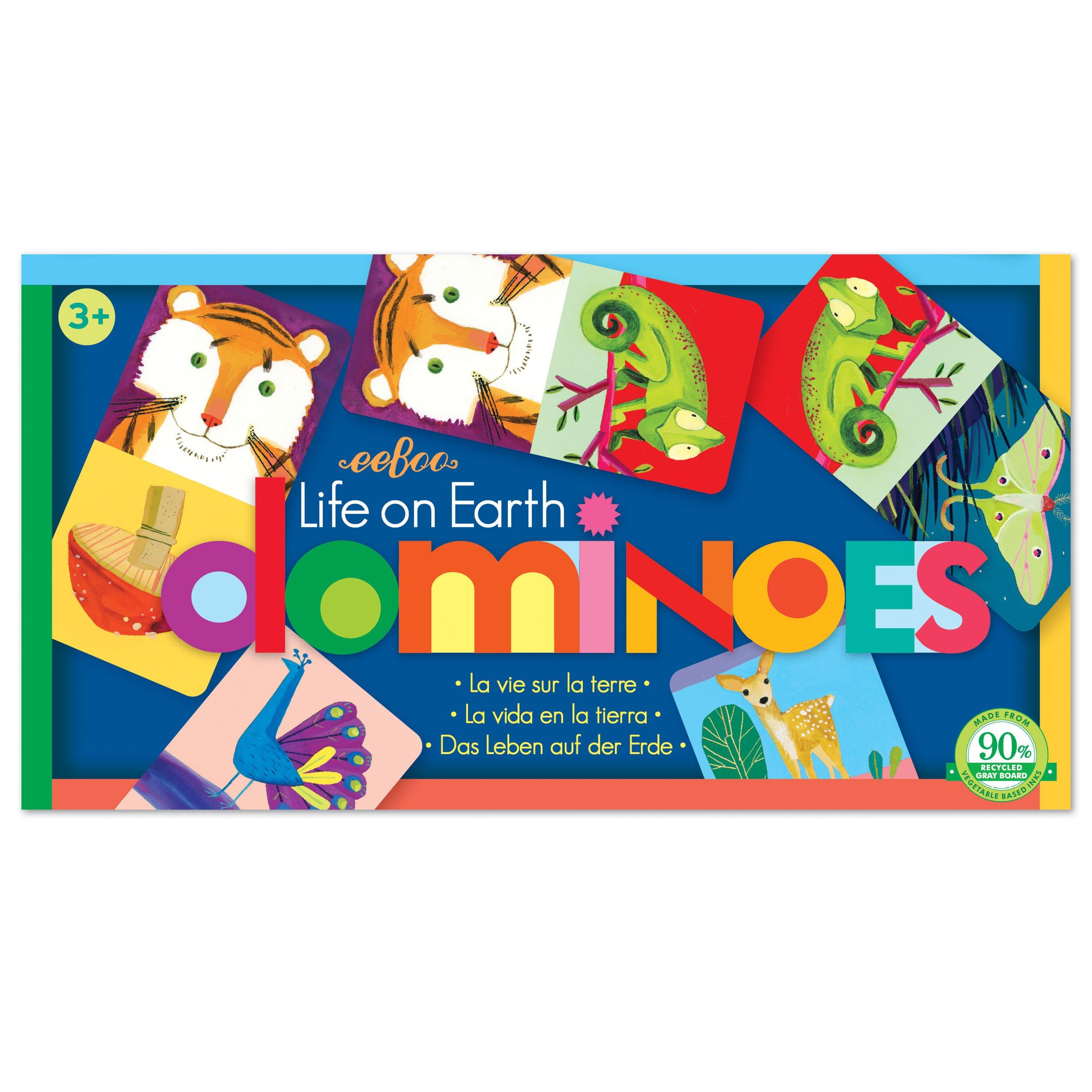 eeBoo Life on Earth Dominoes for Kids