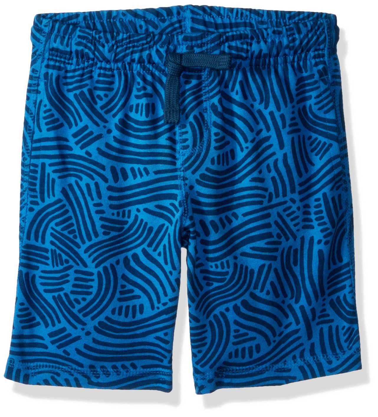 Gymboree Little Boys' Drawstring Easy Knit Shorts, Blue Squiggle, S