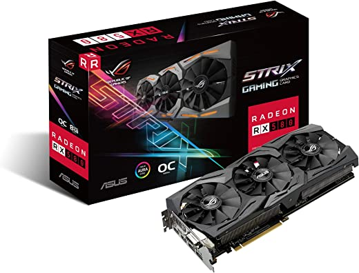 Asus Radeon Dual Rx580 8GB Oc Edition,8GB GDDR5 Video Memory