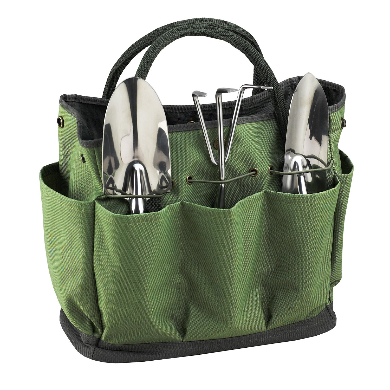 Picnic at Ascot Eco Gardening Tote with Tool Set, Forest Green 341-FO