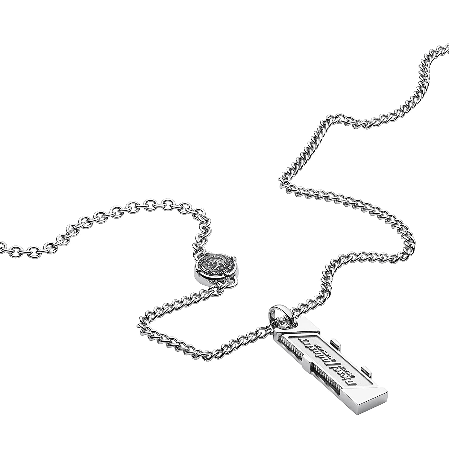 Diesel Men's Silver Necklace DX1036040 wJNEow7RWE