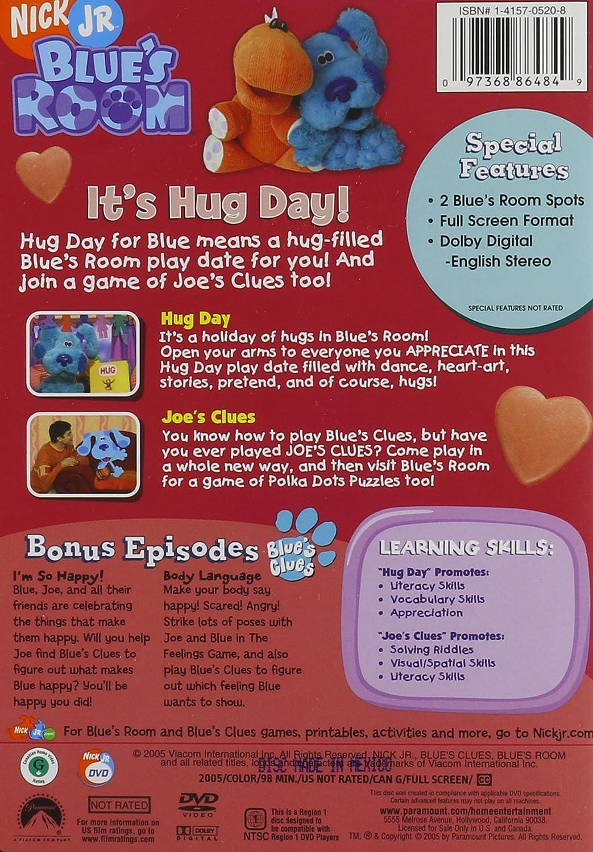 amazon com blue u0027s clues blue u0027s room it u0027s hug day steve burns
