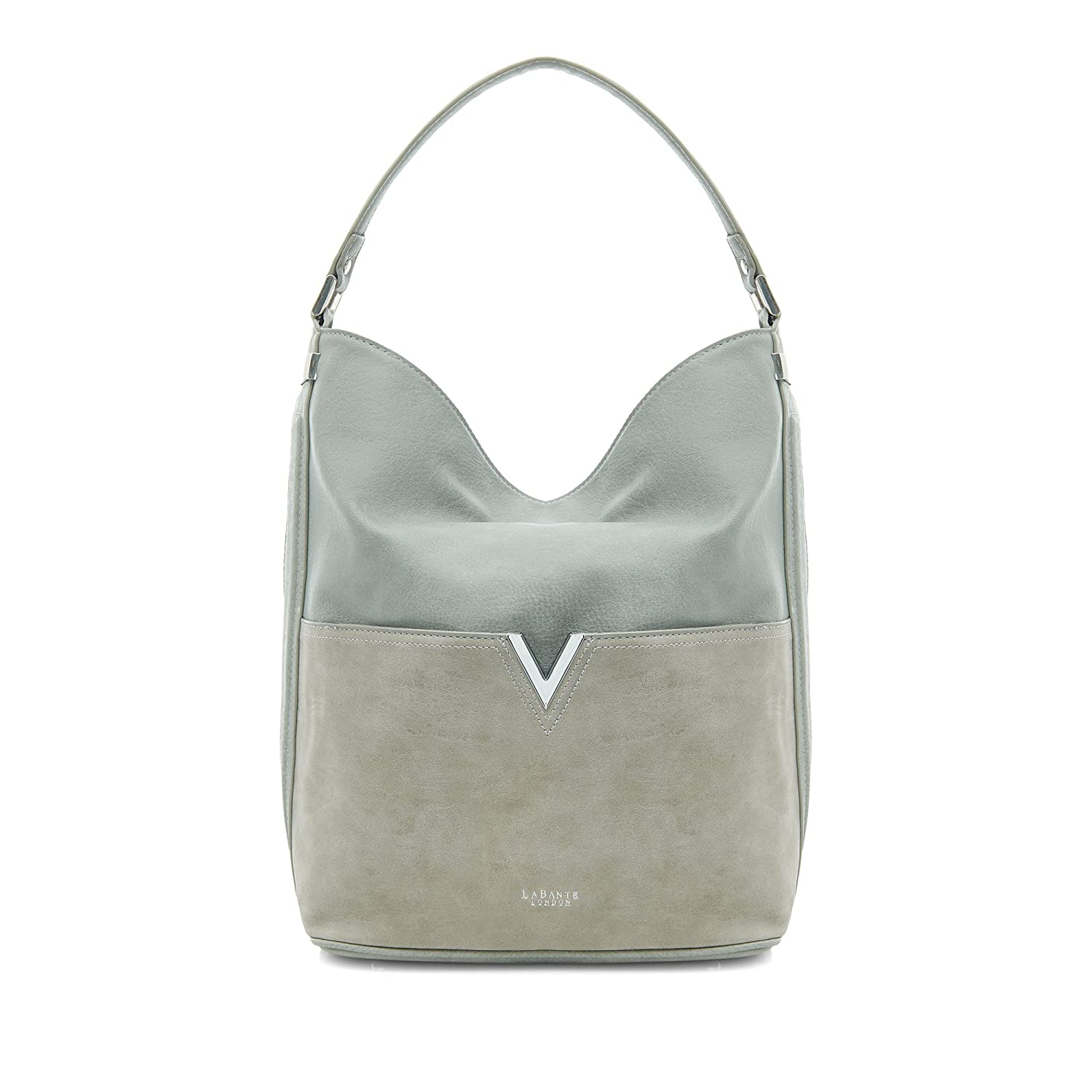 9d5f424f04 Amazon.com  LaBante -Tia- Hobo Bags for women - Grey Purse Slouchy Purse  Tote Purse Large Bag Vegan Purse