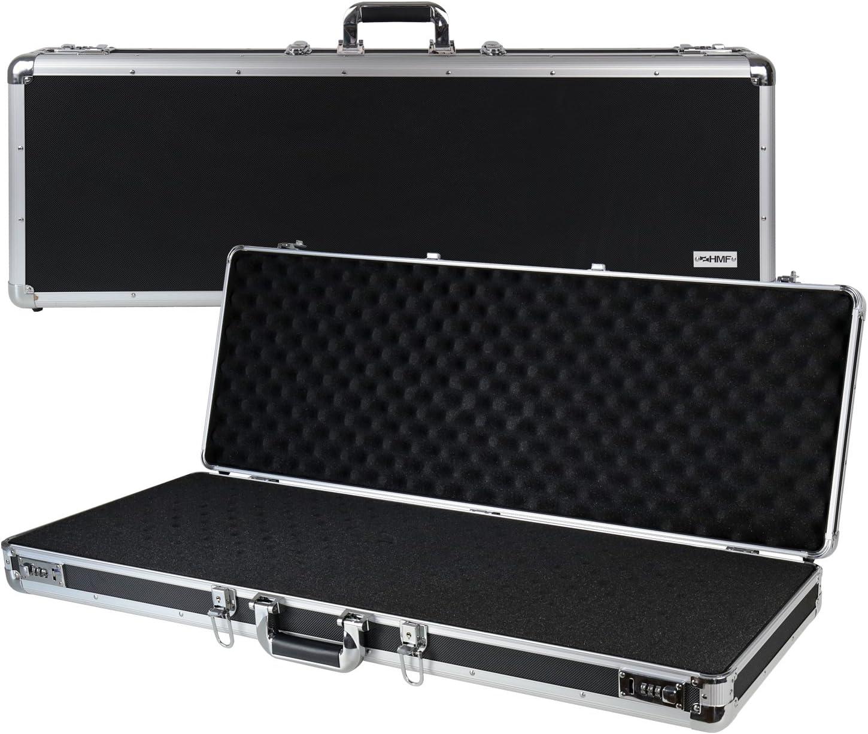 HMF 14404-02 Maleta de Aluminio para Armas y Rifles con Espuma | 96 x 36 x 12 cm | Negro