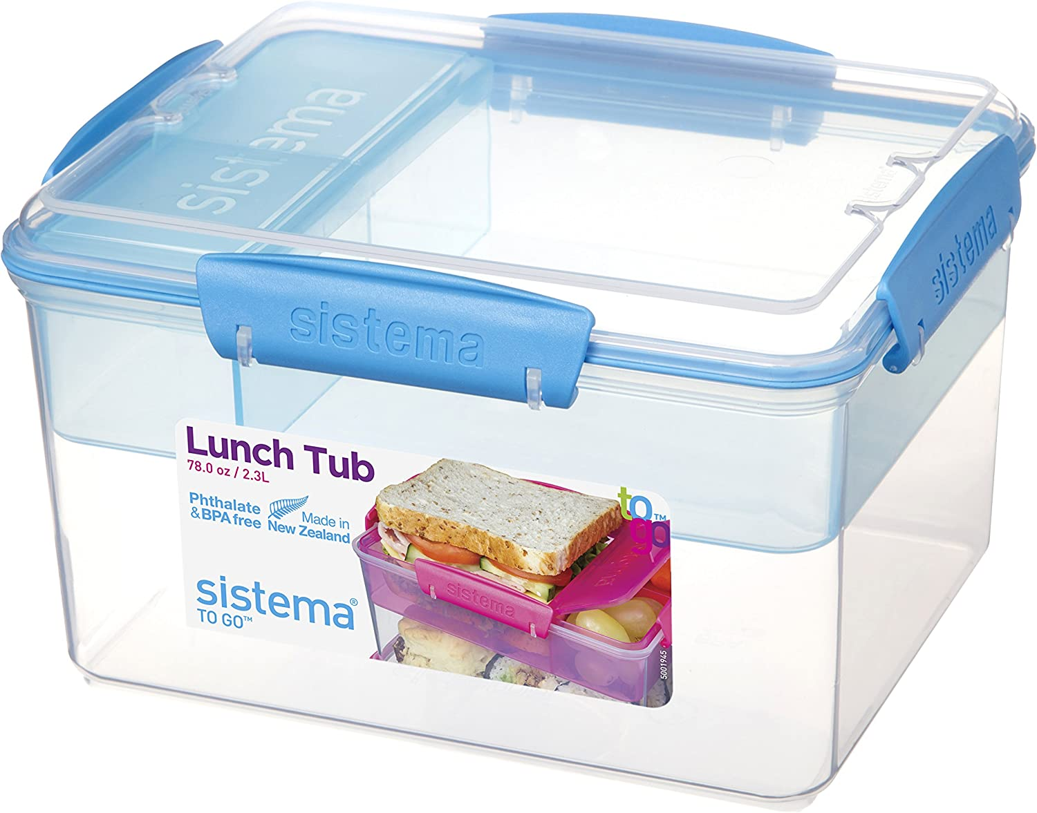 NEW 1.5L LITRE FOOD STORAGE TUB PACKED LUNCH BOX ......