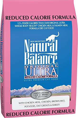 Natural Balance Original Ultra Reduced Calorie Dry Cat Food, Chicken Meal, Chicken, Brown Rice, Potatoes, Oat Groats Barley