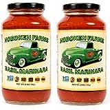 Hoboken Farms Basil Marinara Gourmet Sauce - No Sugar Added, Non GMO Project Verified, Kosher, Vegan, Plant Based, Keto…