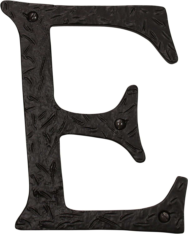 RCH Hardware LT-IR830-152 Iron House Letter 6 Inch Black