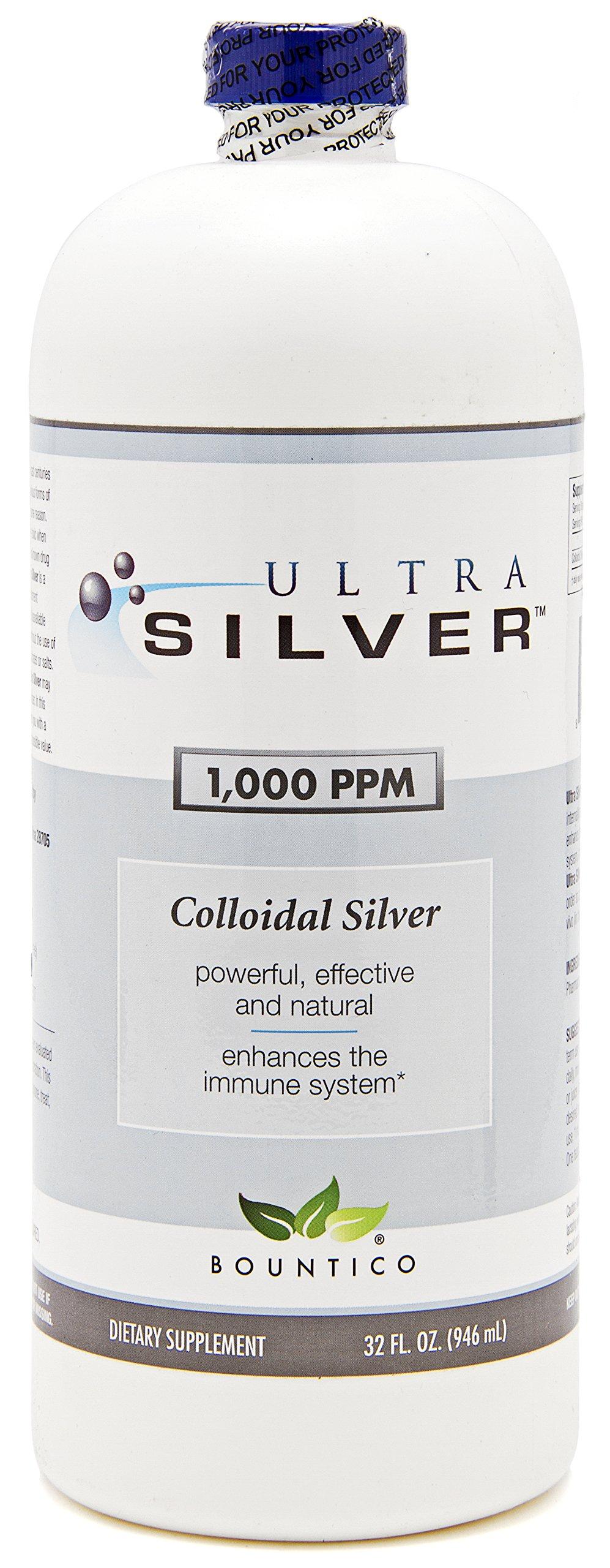 Ultra Silver Colloidal Silver 1000 PPM - 32 Oz