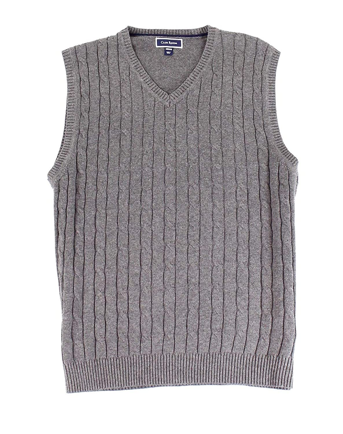 Club Room Men's Cable-Knit Cotton Sweater Vest, 29336CRVST