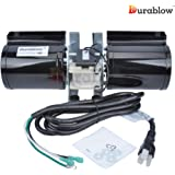 Durablow GFK-160 (w/ Power Cord ONLY) Fireplace Stove Blower Unit for Lennox, Superior, Heat N Glo, Hearth and Home, Quadra Fire, Regency, Royal, Jakel, Nordica, Rotom
