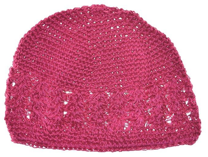 Amazon Mm Kufi Hat Crochet Cap Beanie Hot Pink Clothing