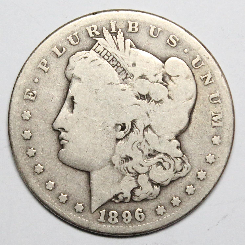 1896 S Morgan Silver Dollar $1 Average Circulated