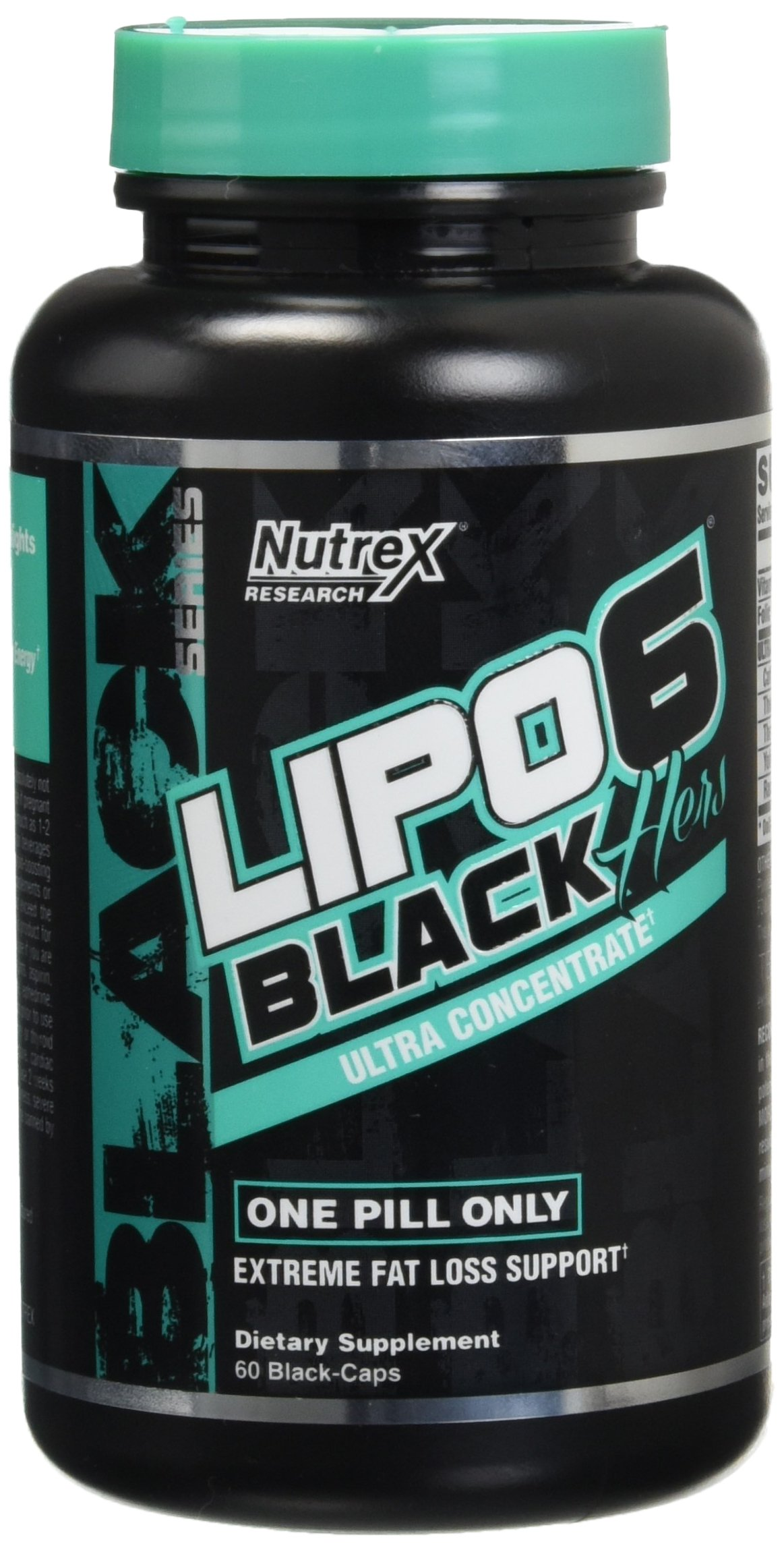 Nutrex Research Lipo 6 Black Hers Ultra Concentrate, 60 Count by Nutrex