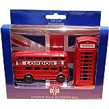 Ensemble de taille-crayons en fonte Cabine téléphonique et bus Londres Souvenir de Londres. Taille-crayons. Taille-crayons.