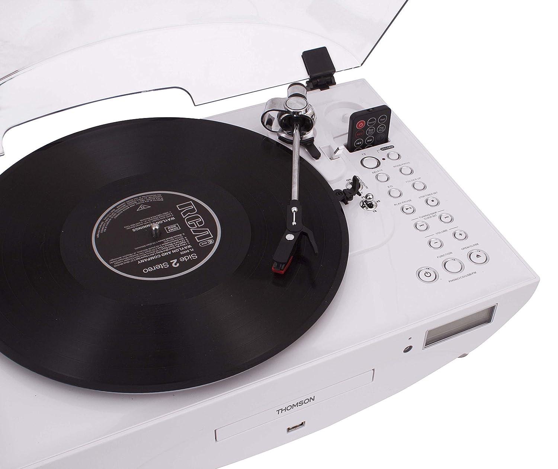 Thomson TT401CD- Tocadiscos, blanco