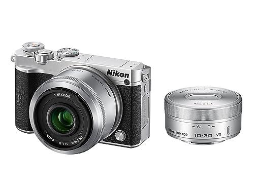 Nikonミラーレス一眼Nikon1J5ダブルレンズキットシルバーJ5WLKSL