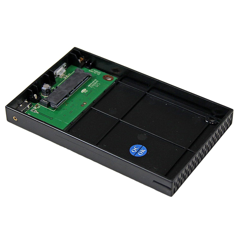 Aluminium StarTech.com 2.5 Inch External Hard Drive Enclosure SSD//HDD eSATA Enclosure Supports UASP eSATAp or USB 3.0