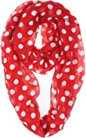 Vivian & Vincent Soft Light Weight Polka Dot Sheer Infinity Scarf