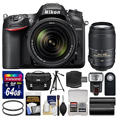 Amazon.com: Nikon D7200 Wi-Fi Cámara réflex digital & 18 ...