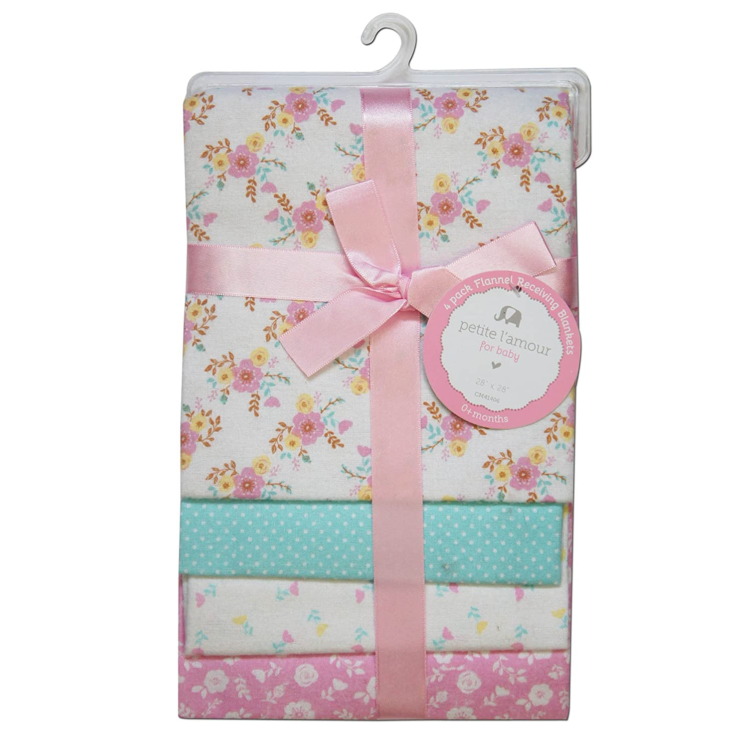 CRIBMATES Petite LAmour Receiving Blankets Baby Girls Vintage Floral