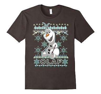 mens disney frozen olaf ugly christmas sweater graphic t shirt 2xl asphalt - Disney Christmas Sweaters