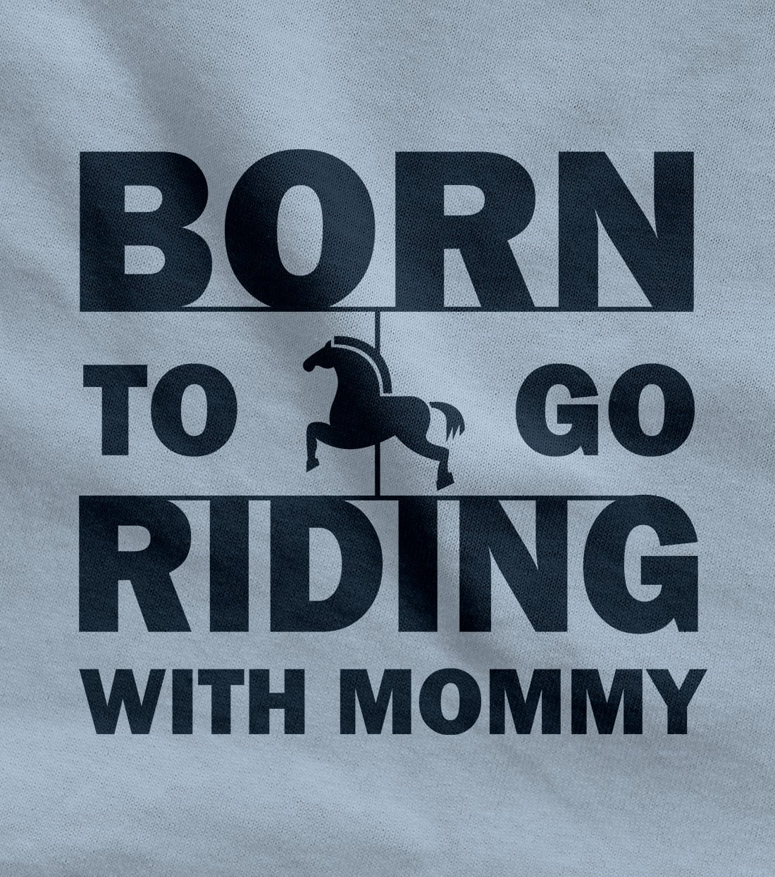TeeStars – Born to Go Riding with Mommy Gift for Horse Lovers Cute Baby Bodysuit