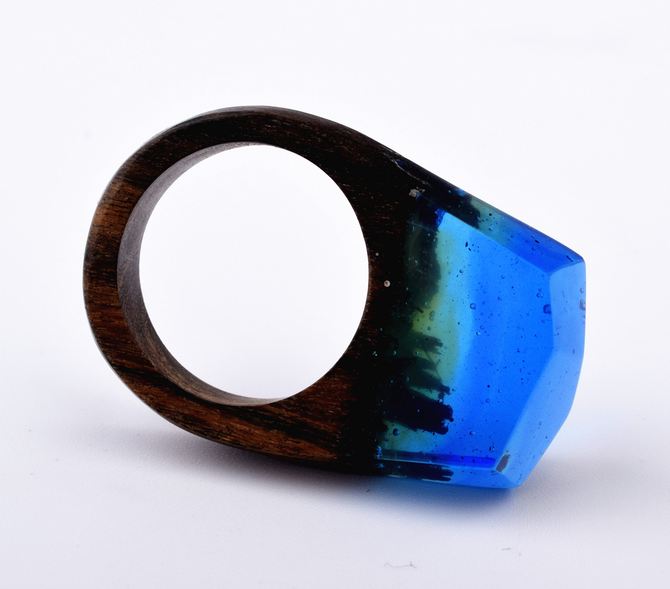 Heyou Love Handmade Wood Resin Ring With Nature Scenery Landscape Inside Jewelry by Heyou Love (Image #3)