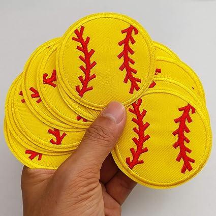 "1.5/"" Neon Yellow Softball Baseball Grosgrain Ribbon"