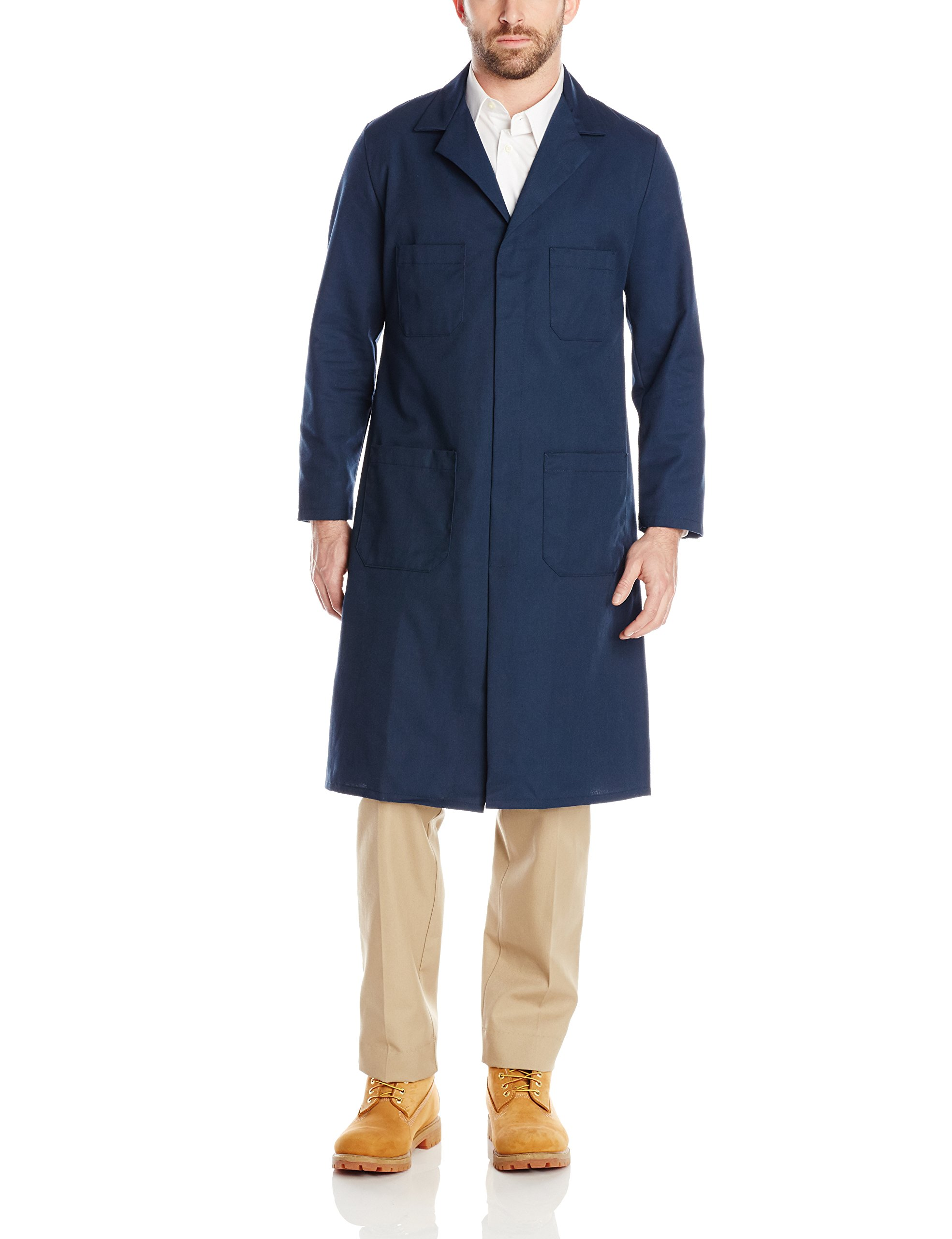 Red Kap Men's Shop Coat, Navy, 52