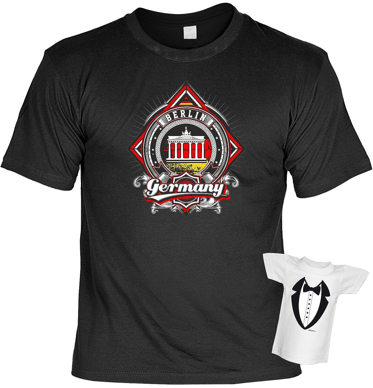 Lustiges T-Shirt Geschenk für Männer Motiv Berlin mit Gratis Mini-Shirt  Geschenkidee Geburtsagsgeschenk Germany: Amazon.de: Bekleidung