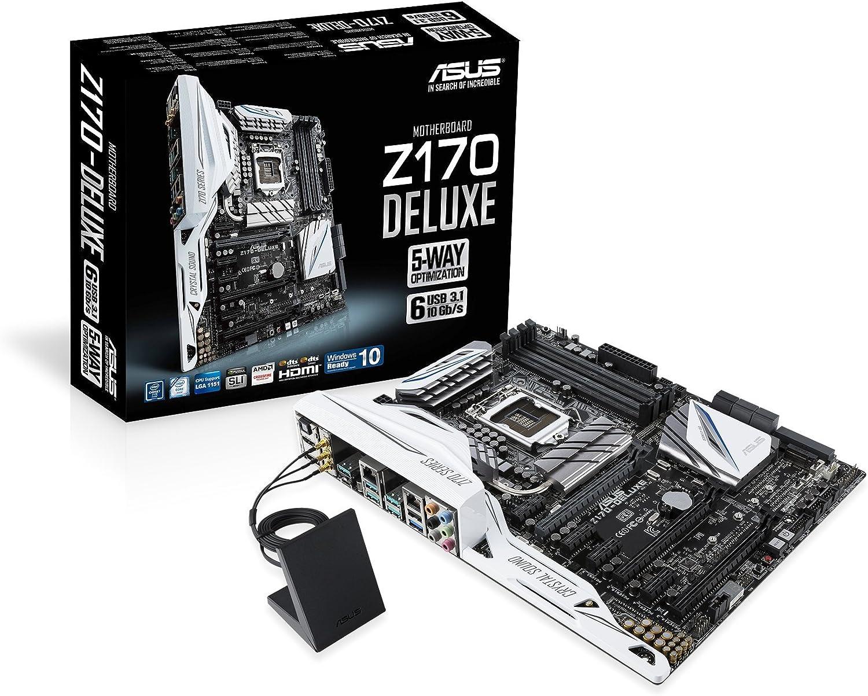 Asus Desktop Motherboard - Intel Z170 Chipset - Socket H4 LGA-1151 Z170-DELUXE