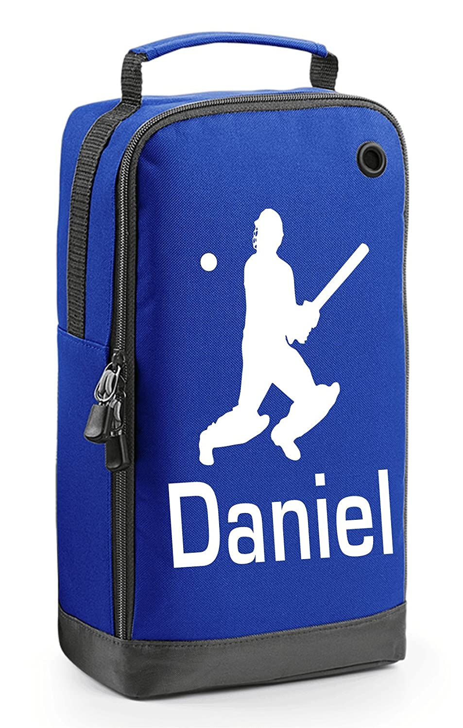 Royal Blue Personalised Cricket Shoe Bag with Carry Handle Bagbase BG540_Cricket