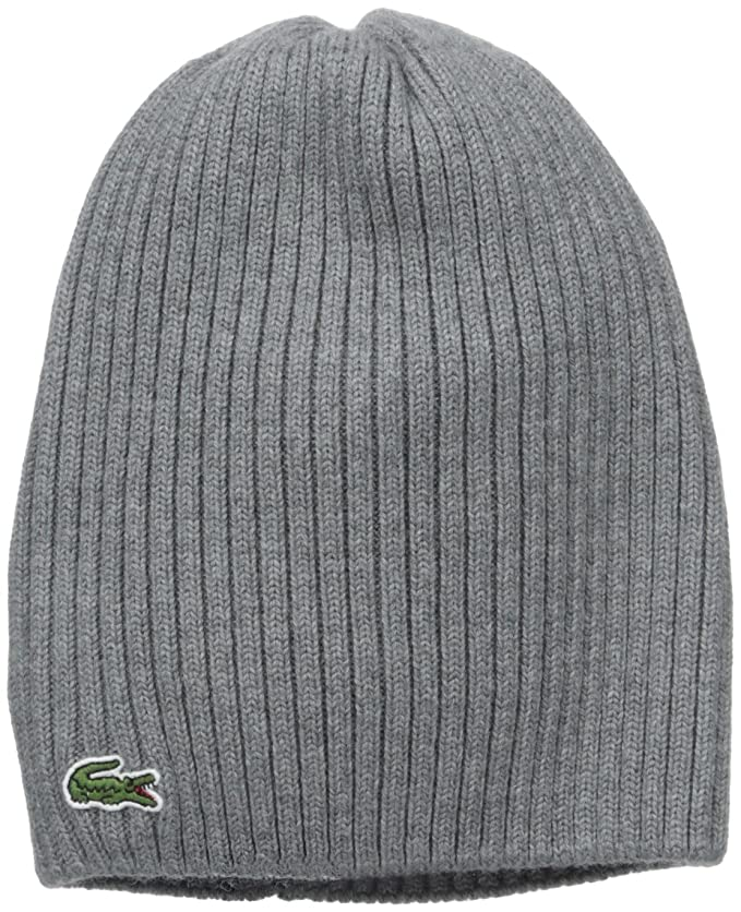 d36a9be382 Lacoste Men's Green Croc Ribbed Wool Knit Beanie, Black One Size at Amazon  Men's Clothing store: