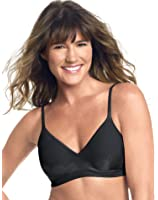 Barely There Women`s CustomFlex Fit® Lightly Lined Wirefree Bra, L-Black