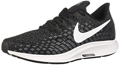 5d726d79ef51 Nike Womens Air Zoom Pegasus 35 Running Shoes Black/White/Gunsmoke/Oil Grey