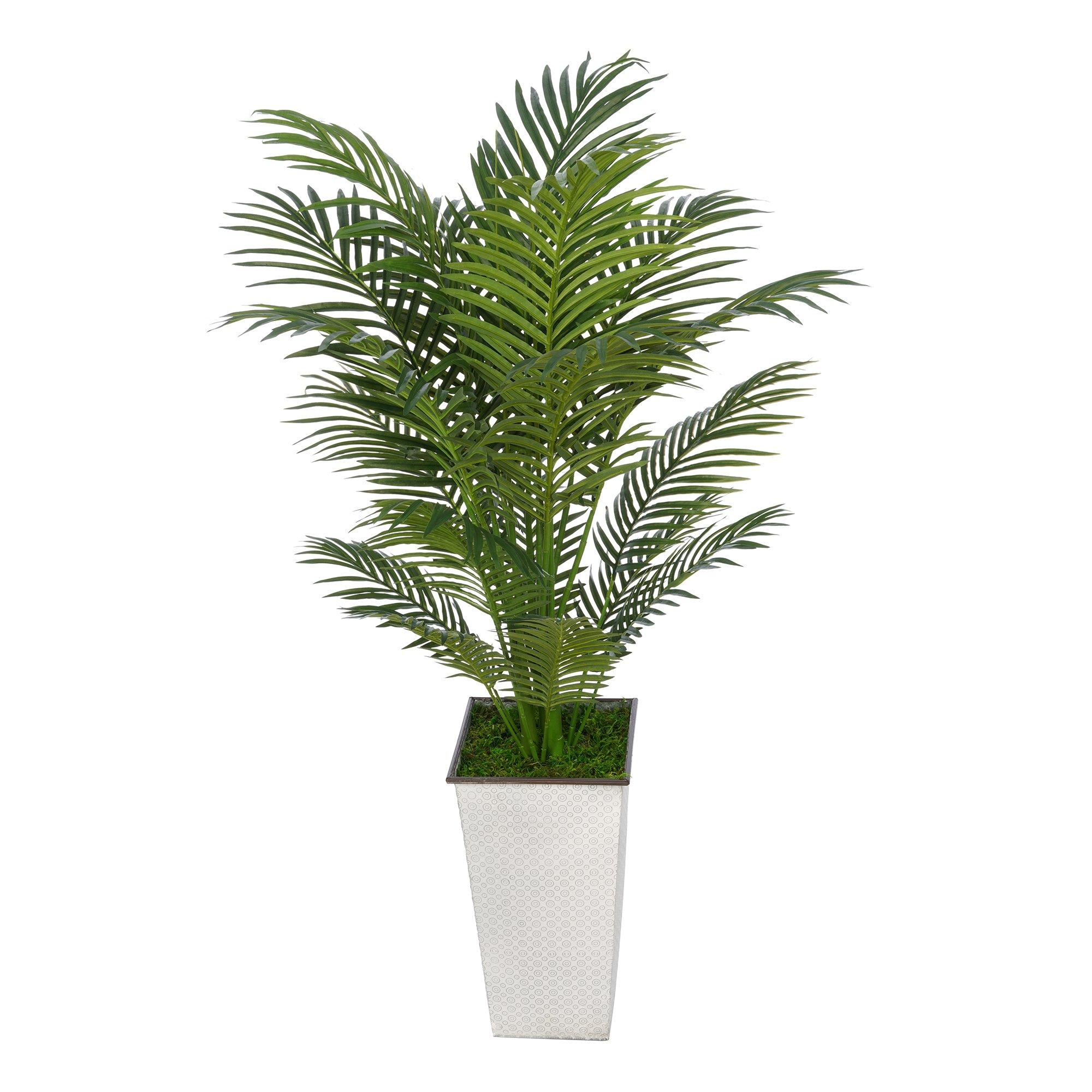 Artificial 4-1/2 foot Areca Palm in Designer Metal (238)