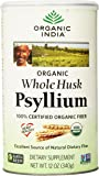 Organic India Whole Husk Psyllium, 12-Ounce (Pack of 2)
