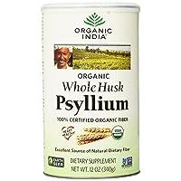 Organic India Whole Husk Psyllium, 12-Ounce (Pack of 2)