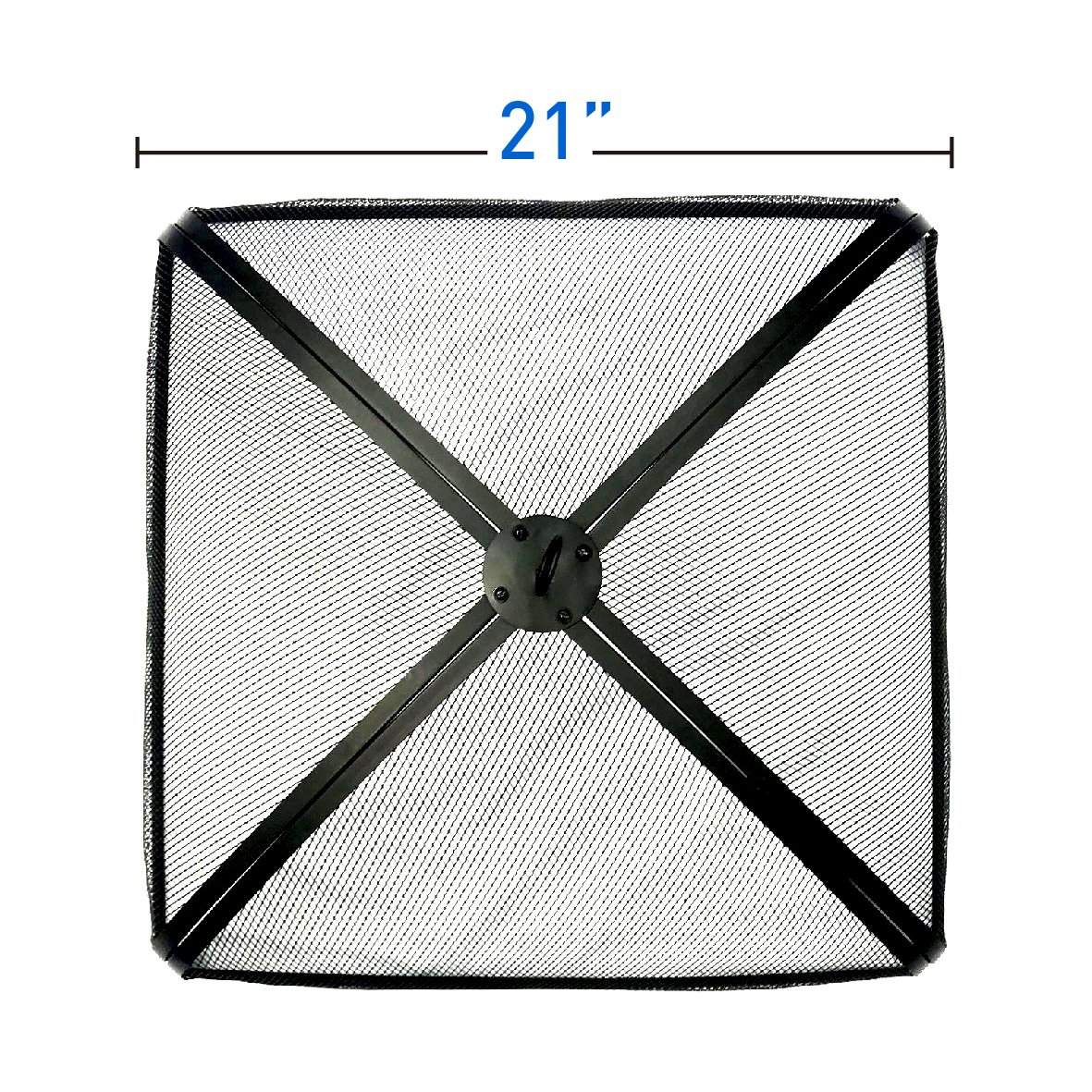 EasyGo FIRE SCREEN – FIRE PIT COVER – FIRE SCREEN PROTECTOR (21'' Square)