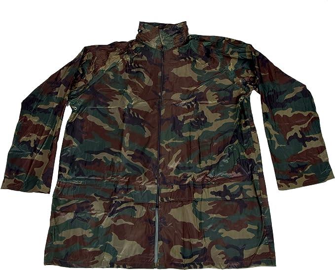 IWEA Camouflage Regenjacke Regenmantel Funktionsjacke Wasserdicht Kapuze IW039