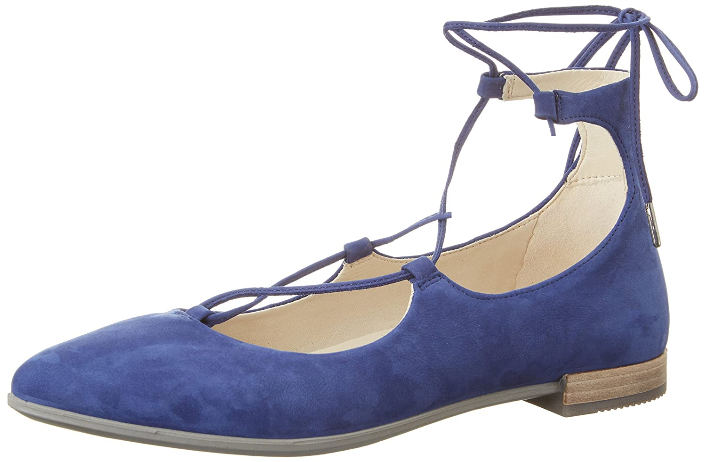 Ecco Damen Shape Pointy Ballerina Geschlossene Ballerinas Blau (2139mediveval)
