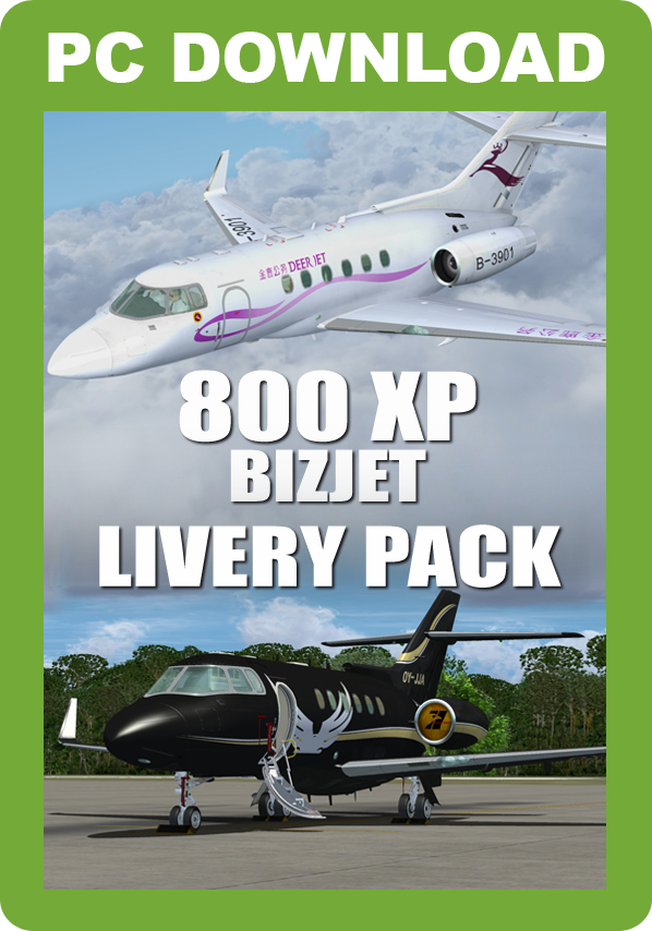 800XP BizJet Livery Pack [Download]