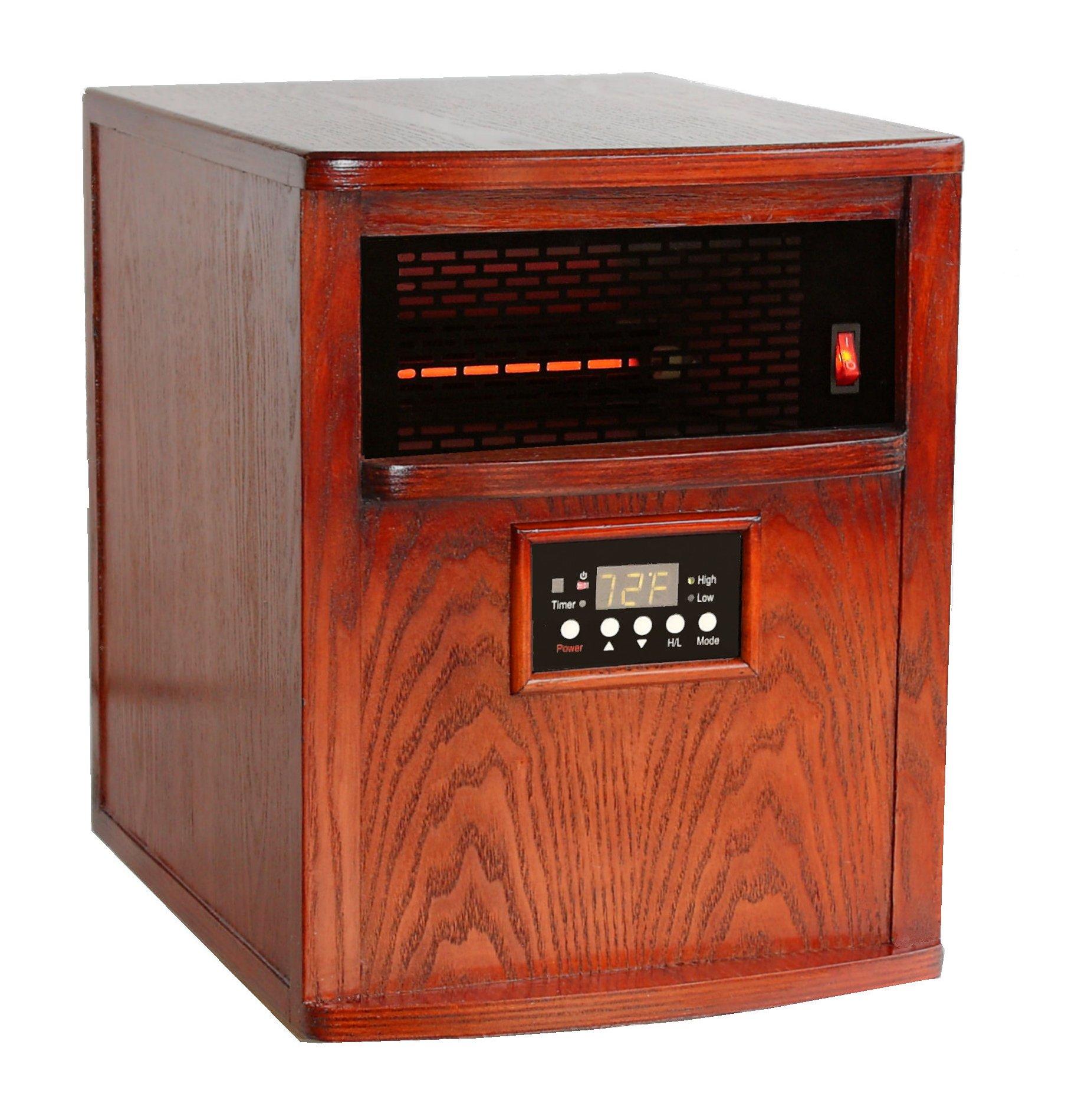 Heat Smart LT1500-NSN-KH Liberty Quartz Infrared Heater, Oak