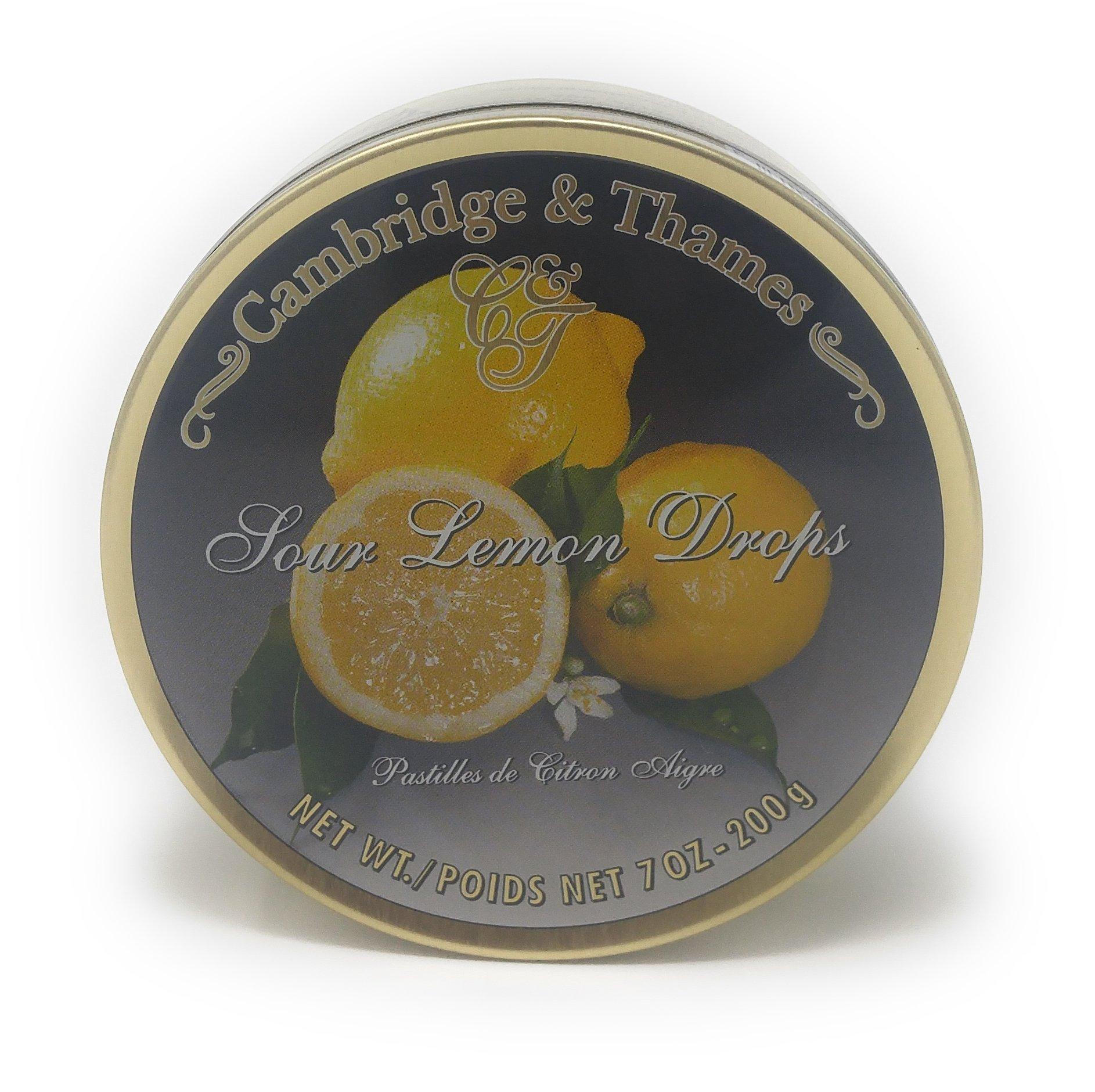 Cambridge & Thames Sour Lemon Drops (7 Oz.) Master Pack of 10
