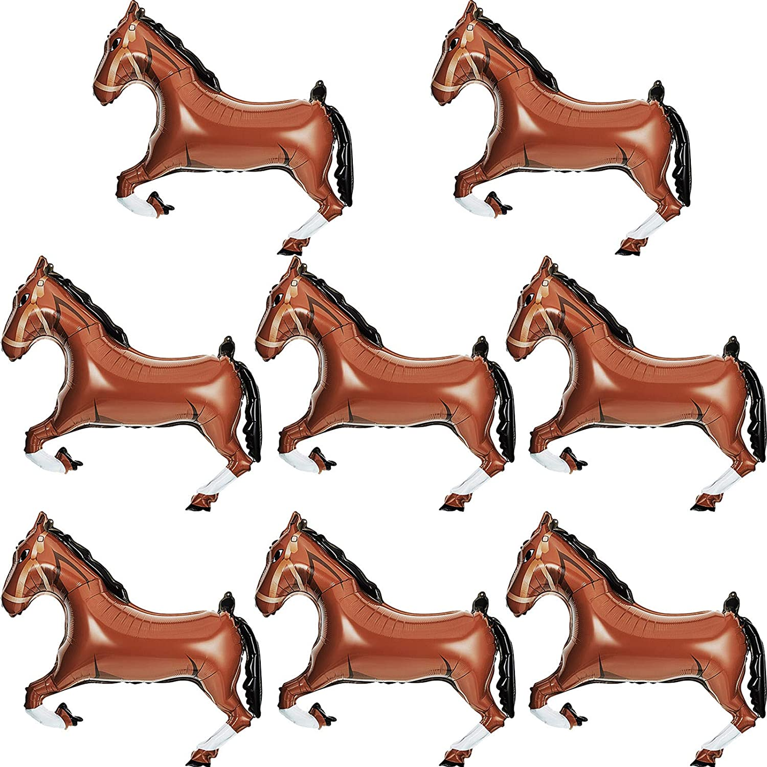 Galloping Horse Foil Balloon Melbourne Cup Race Day 101cm x 63cm