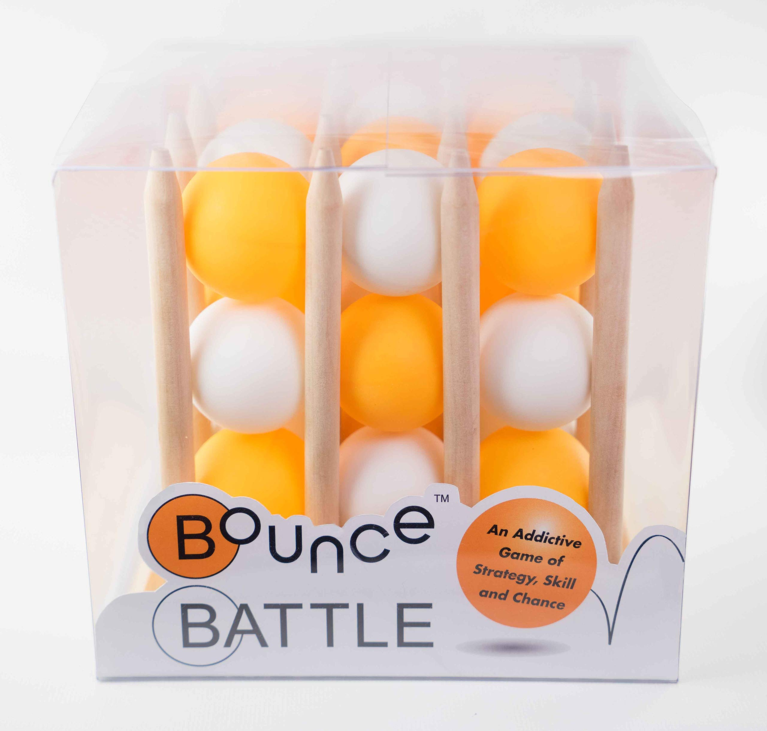 Bounce Battle Premium Wood Edition Game Set: An Addictive Game of Strategy, Skill & Chance