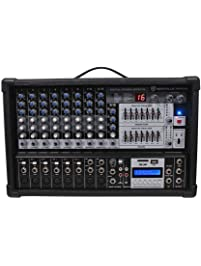 7 Band EQ USB Rockville RPM109 12 Channel 4800w Powered Mixer Effects 48V